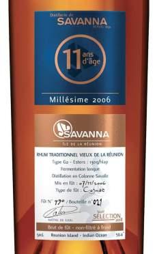 Savanna intense 2006-11ans G2 étiquette