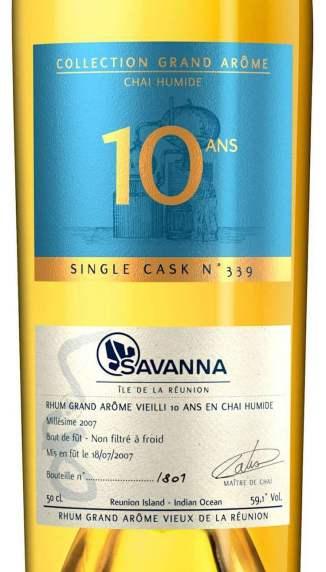 Savanna Lontan 2007-10ans Chai humide étiquette